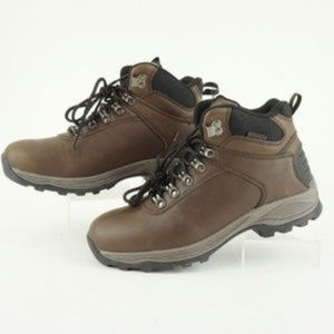 Khombu Men Ravine Leather Hiking Boots Brown A
